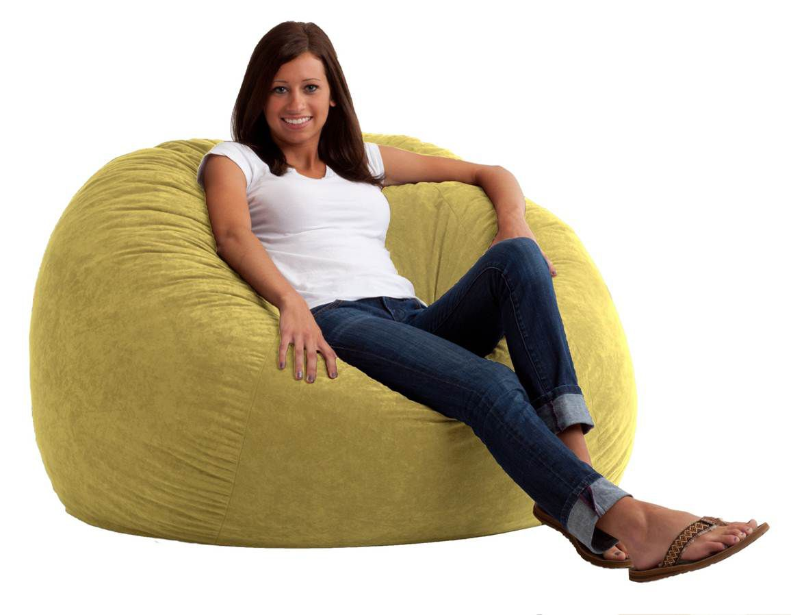 Comfortable Bean Bag Chairs Comfort Research 4 39 Large Fuf Bean Bag Chair In Sand Dune