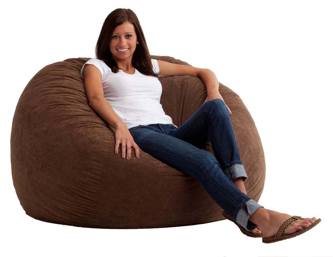 Fuf Chair Comfort Research 4 39 Large Fuf Bean Bag Chair In Black Onyx