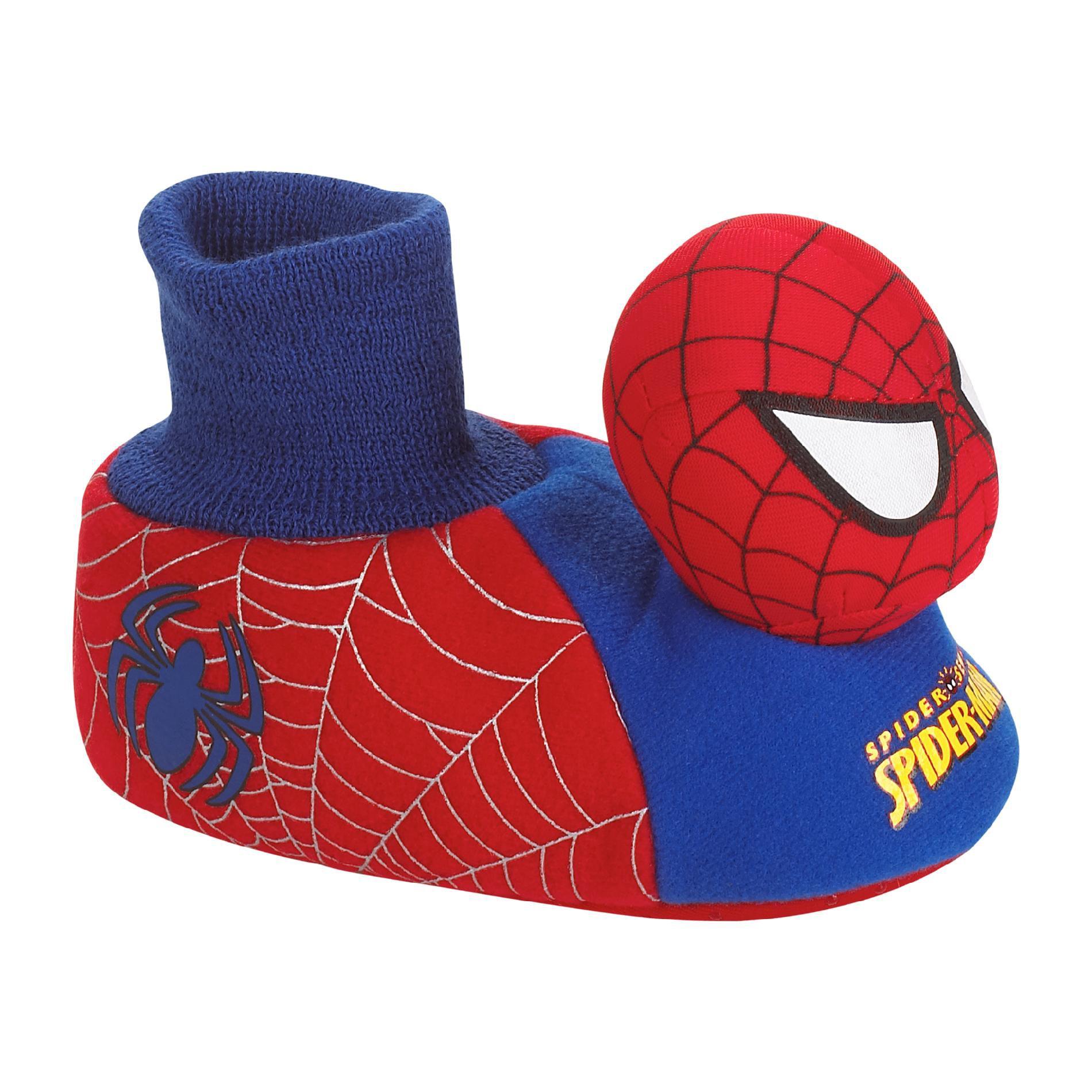 Marvel Toddler Boys' Spiderman Socktop Slipper - Red