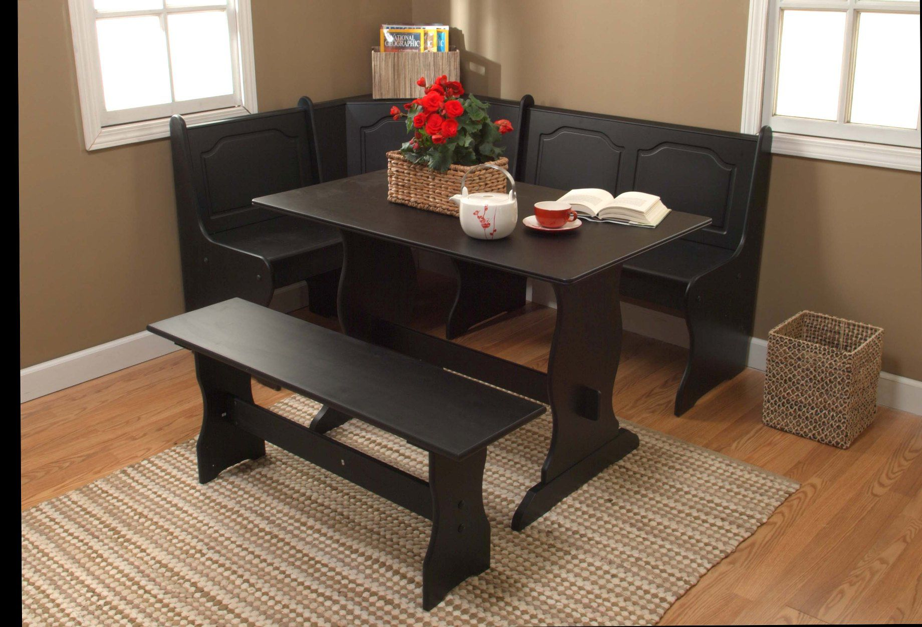 3 Pc. Nook Dining Set - Black