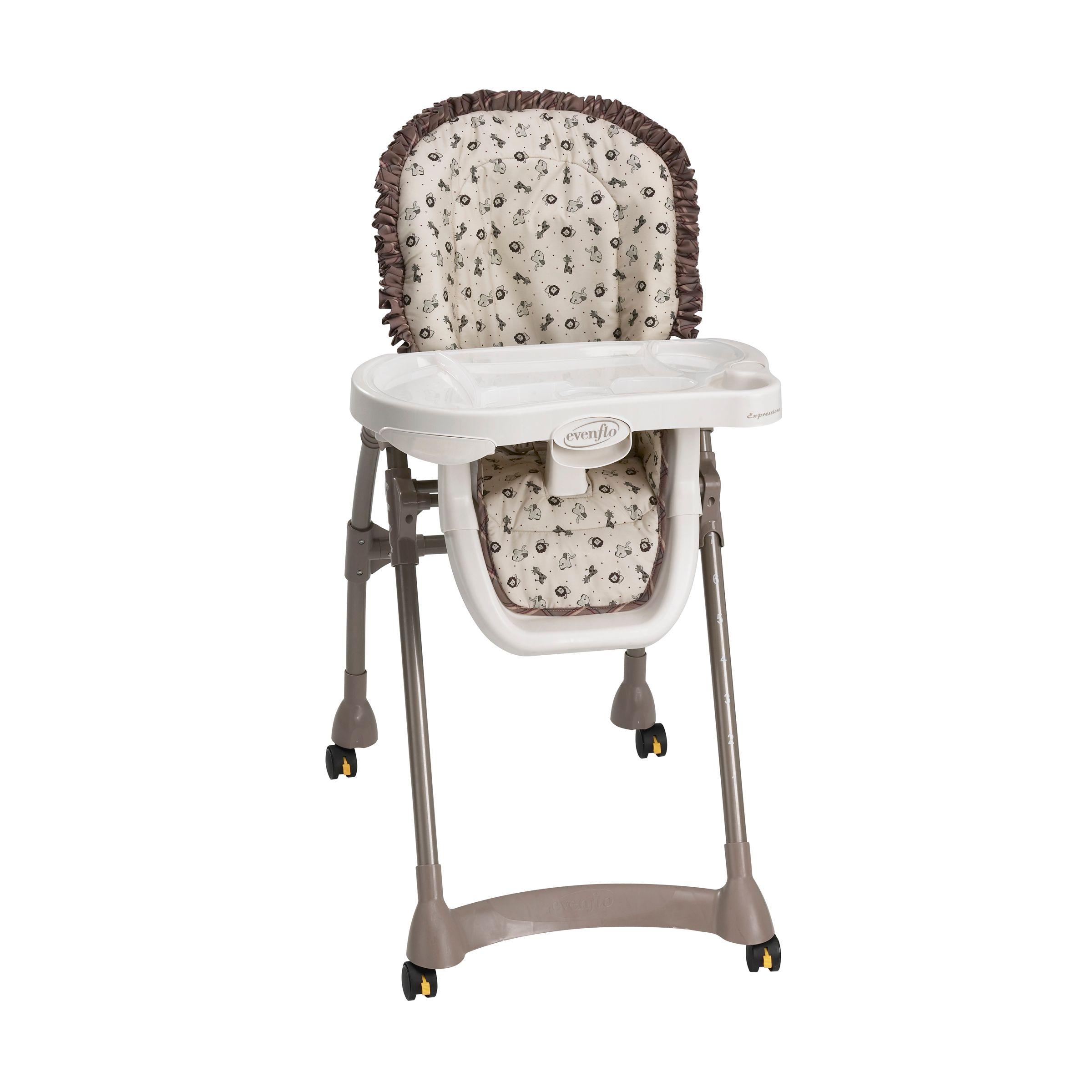 evenflo high chair cover doll chairs expressions safari ii