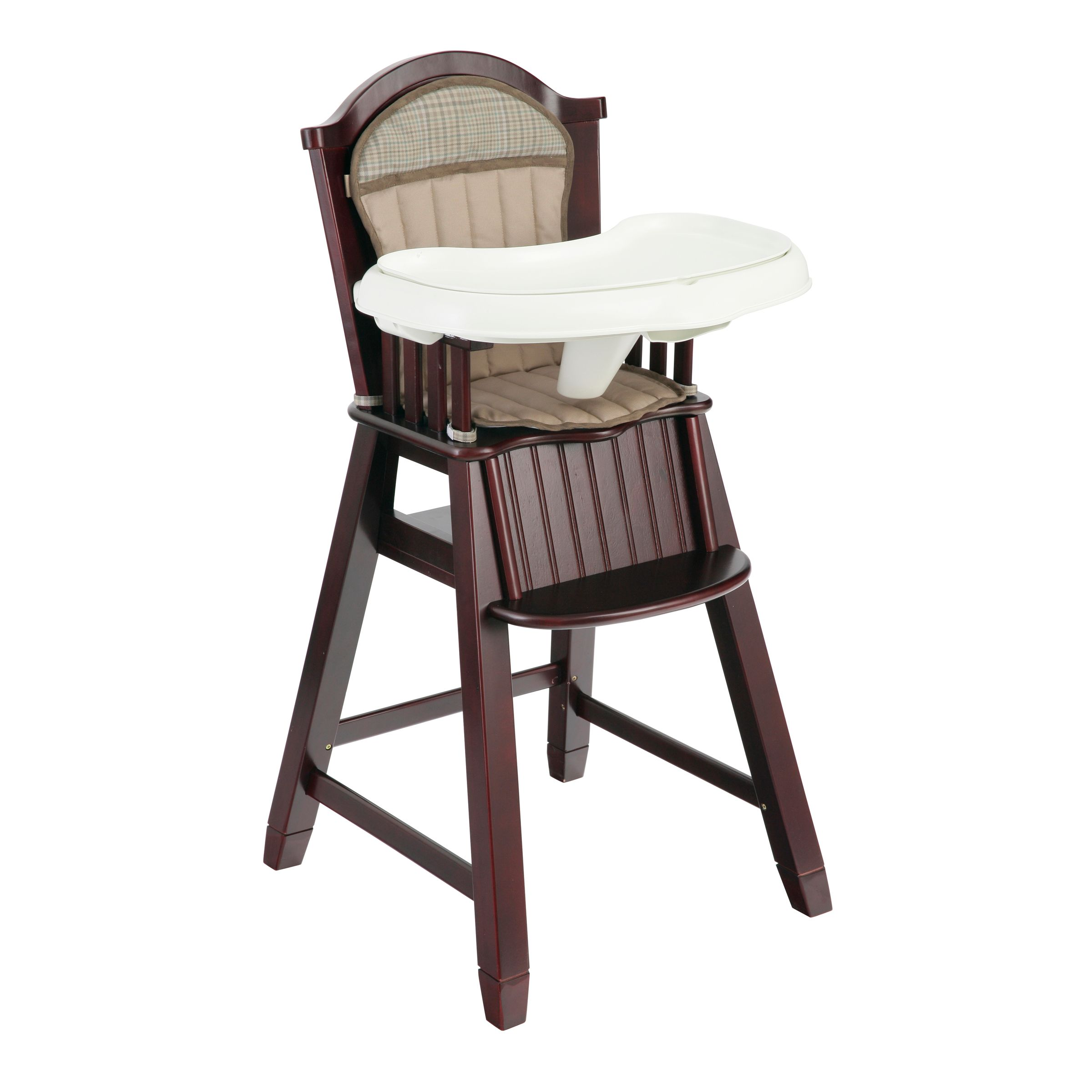 wooden high chairs for babies stretch sofa chair covers eddie bauer highchair