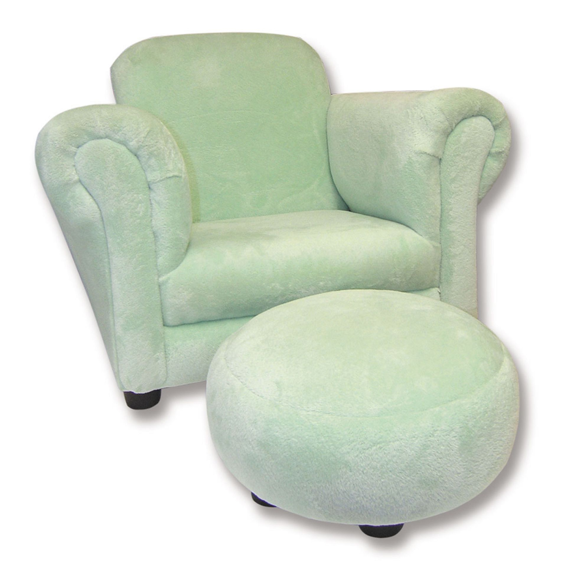 baby furniture chair small folding chairs stools wavery by trend lab sage velour with ottoman