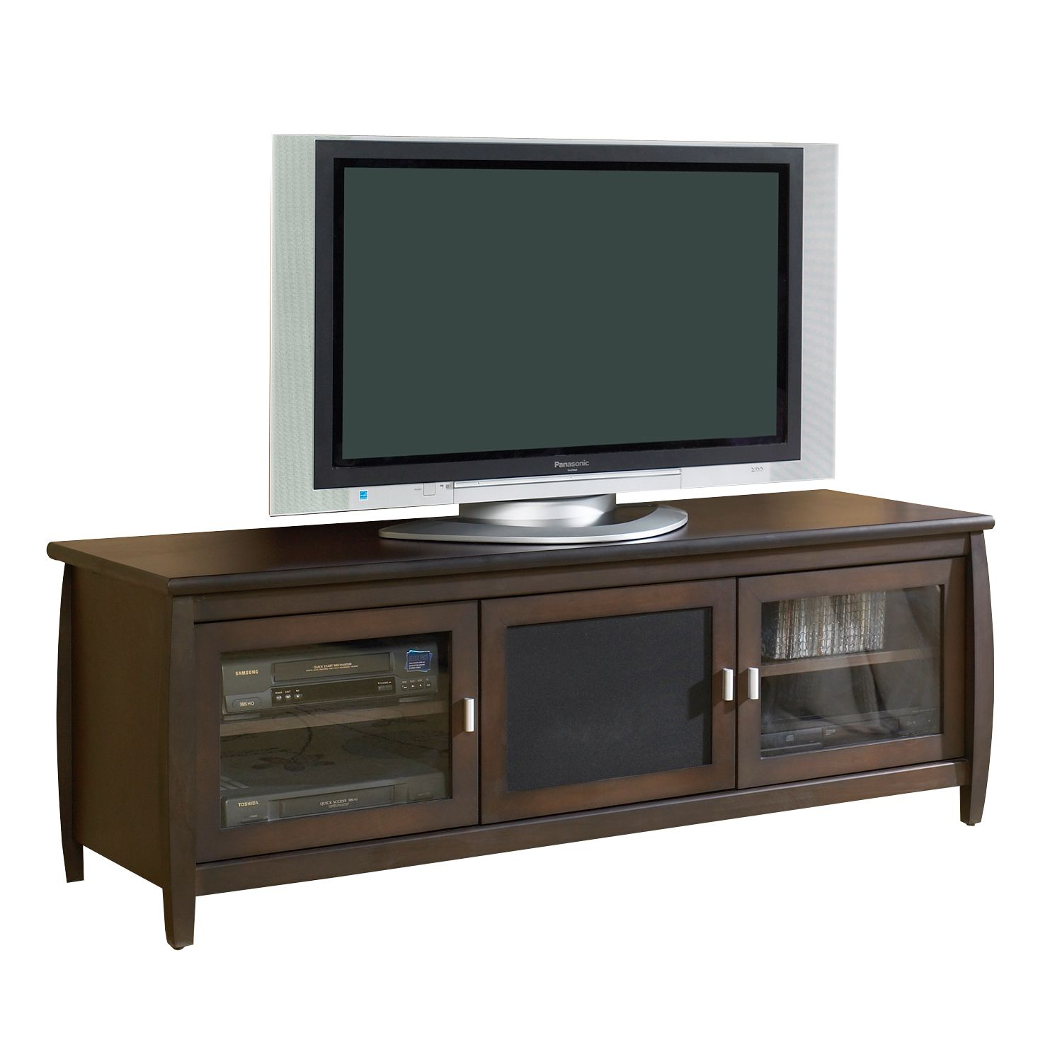 Tech Craft Tv Stand With Cabinet - Wood Home Furniture Game Room & Media