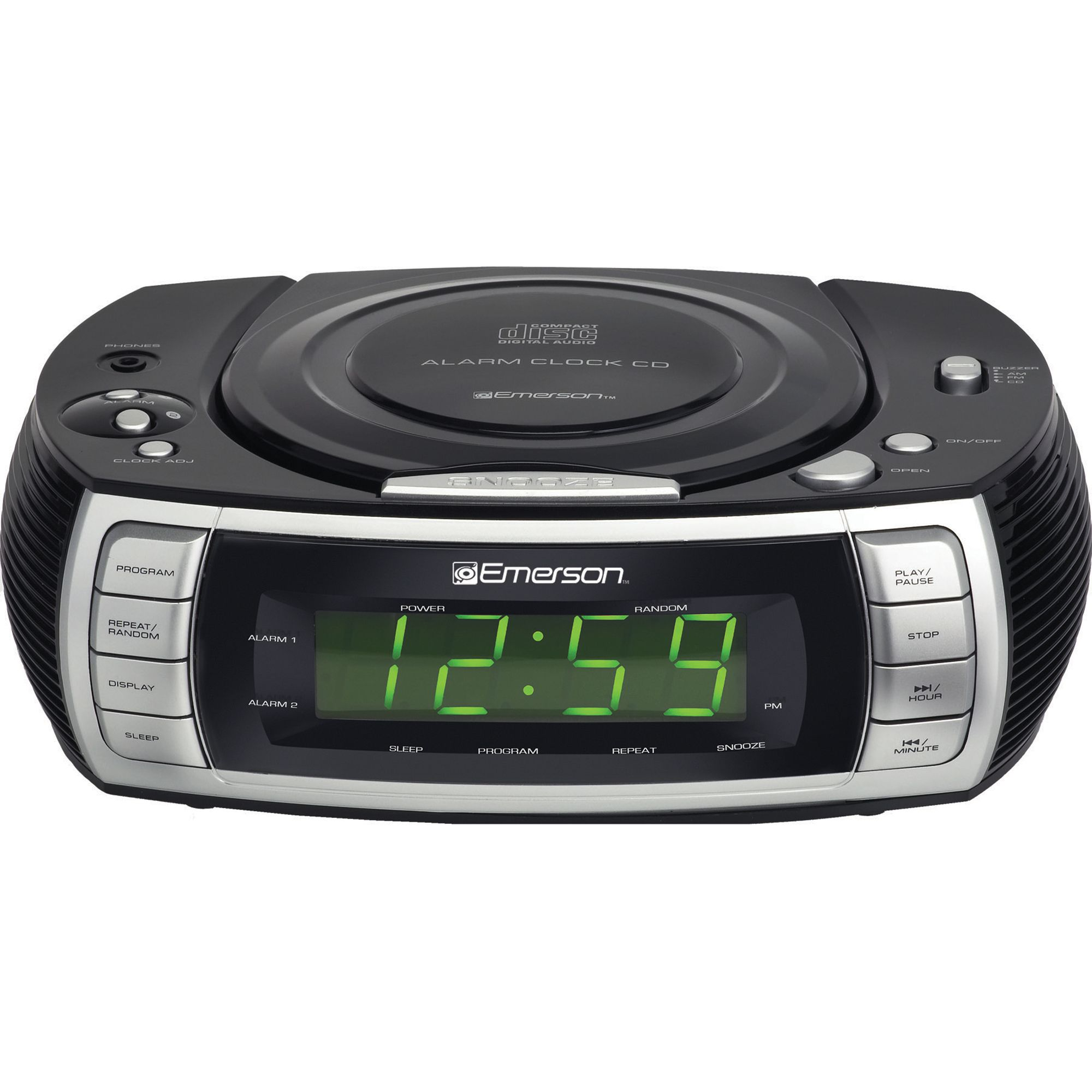 Emerson Ckd2020 Fm Cd Dual Alarm Clock Radio