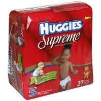 Huggies Supreme Diapers, Baby-Shaped, Size 5 (Over 27 lb ...