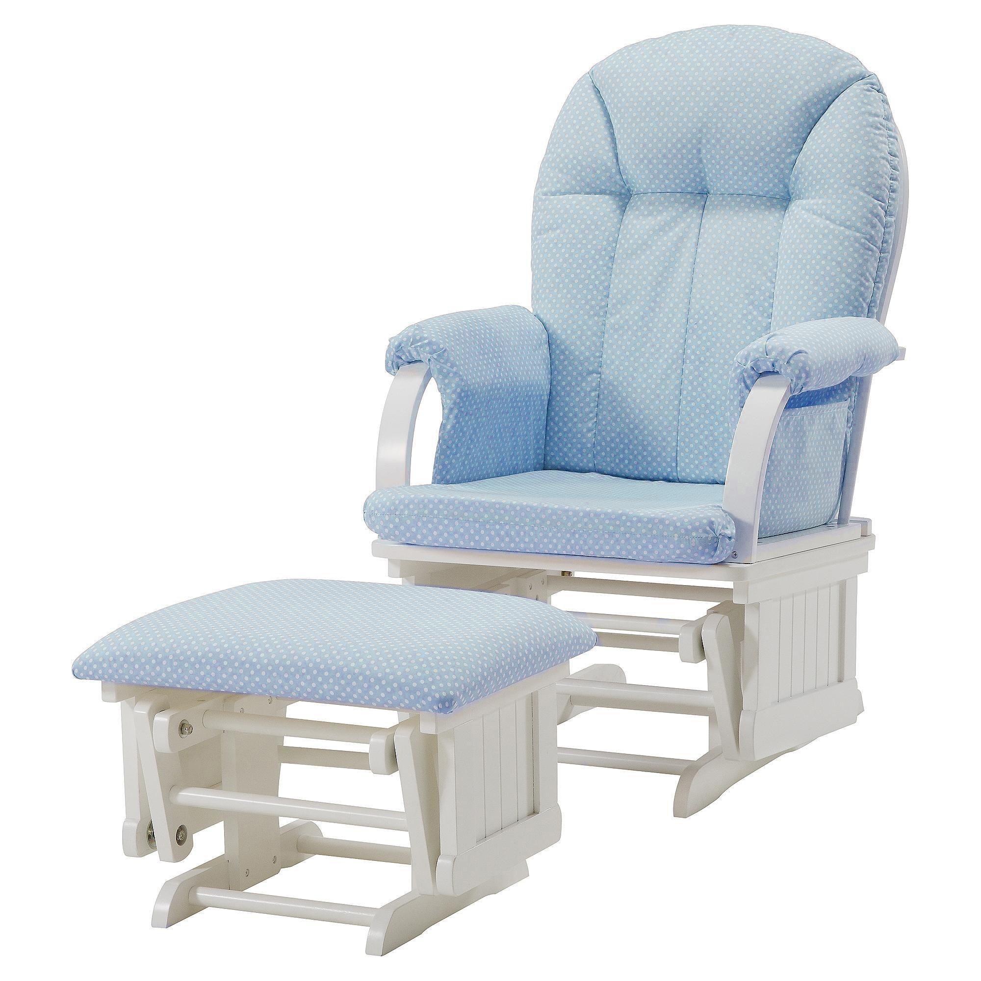 blue glider chair diy mat dorel cottage hill rocker