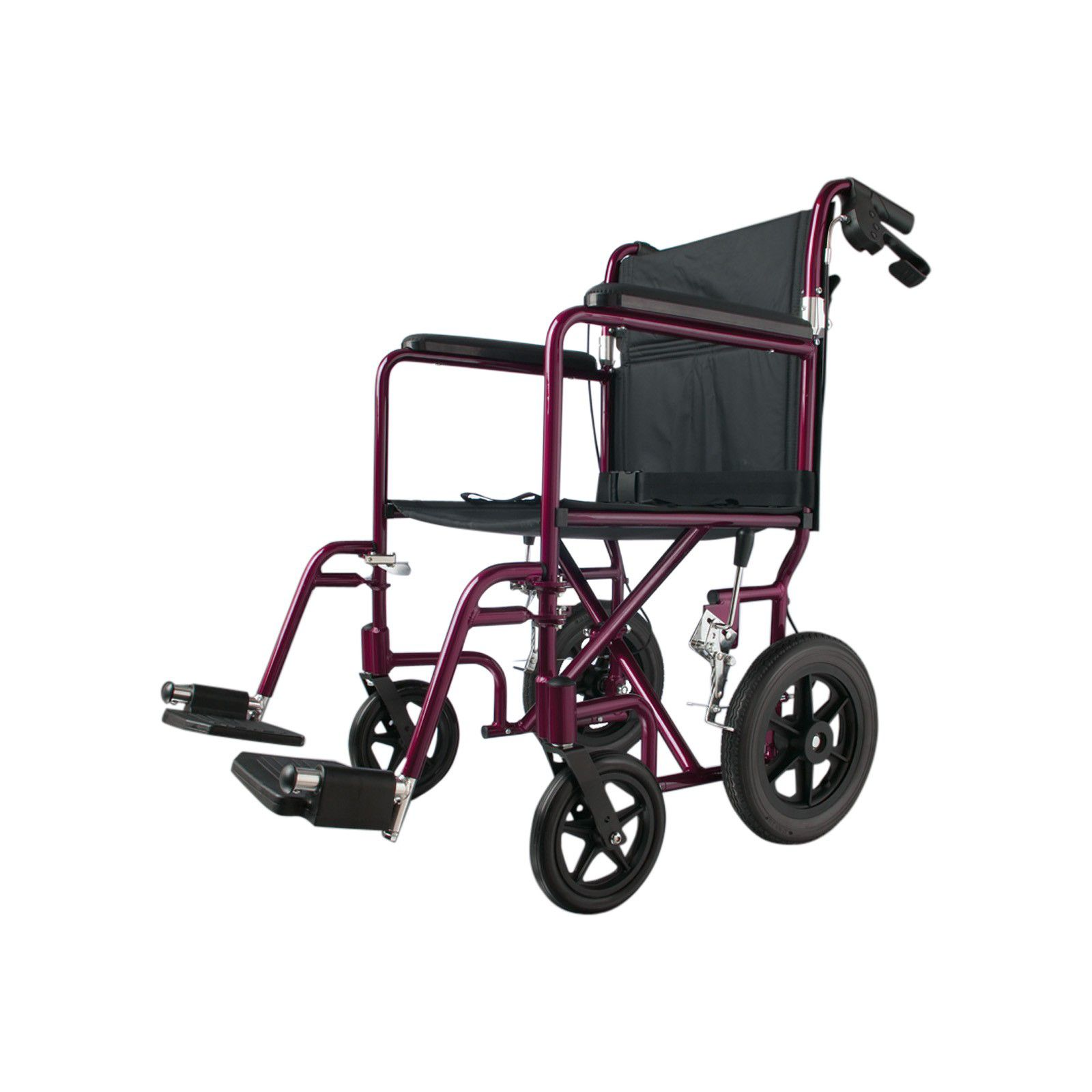 transport wheel chair grey lycra covers medline deluxe aluminum red