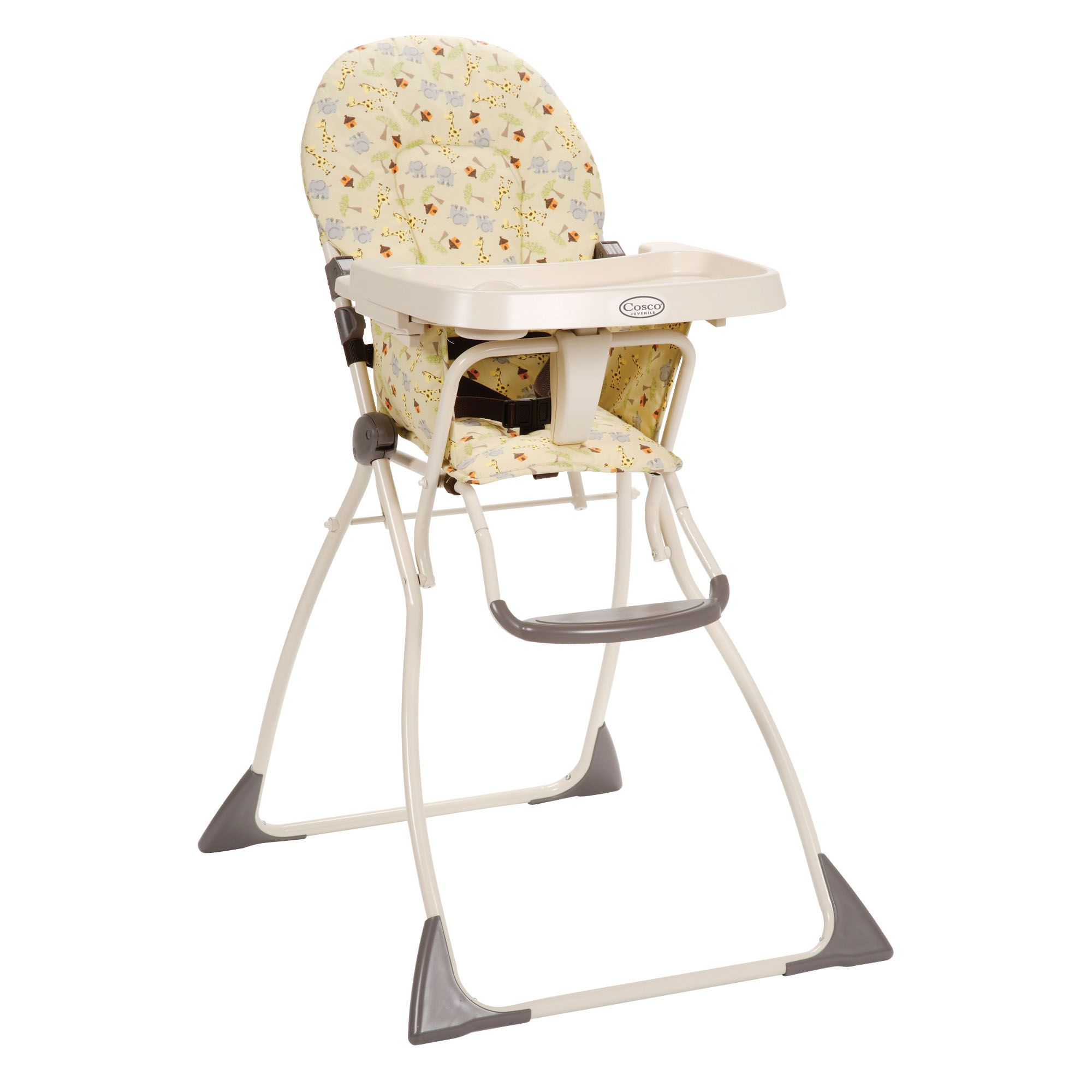 high chair that folds flat cheap covers china cosco safari in africa fold