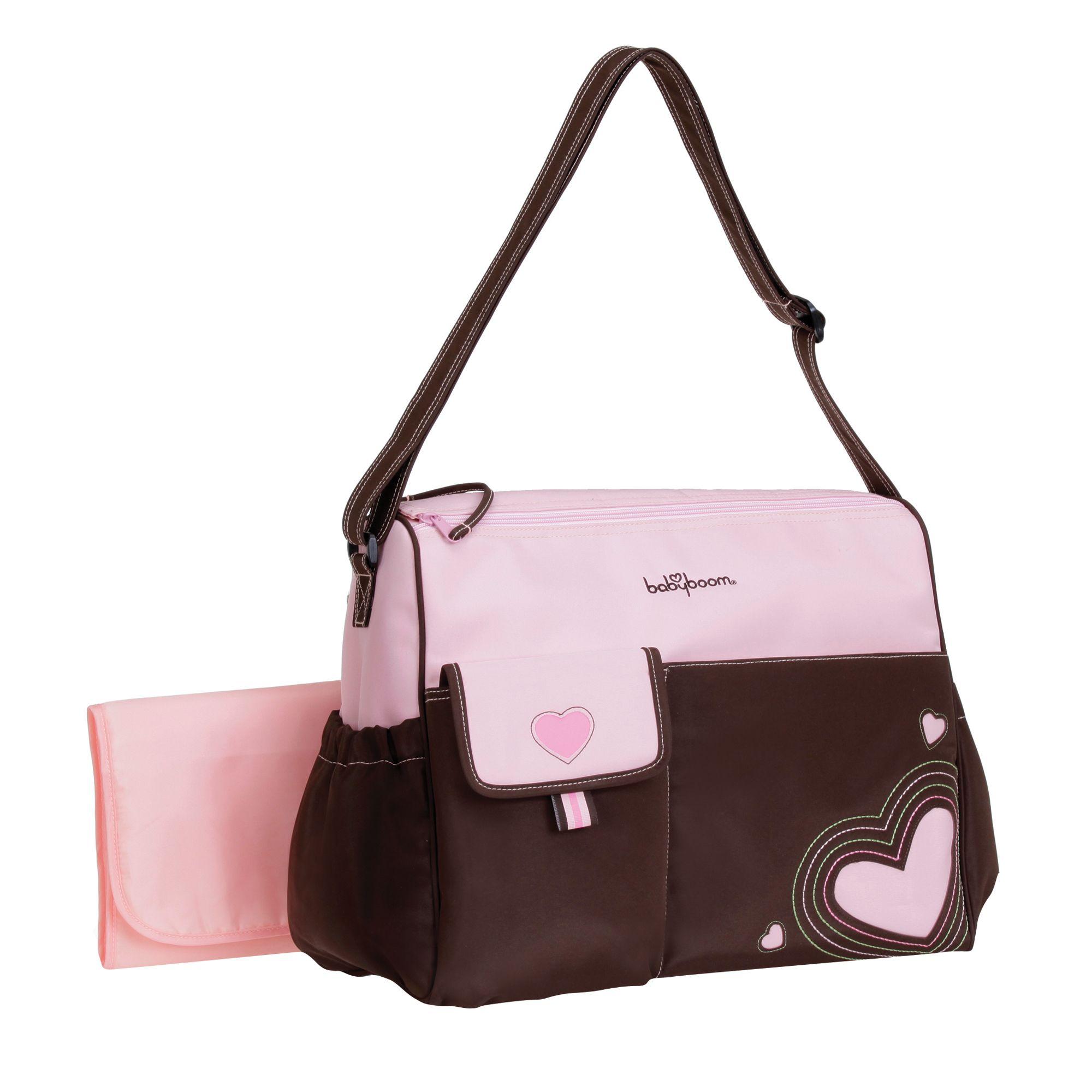 Baby Boom Pink Heart Duffle Diaper Bag