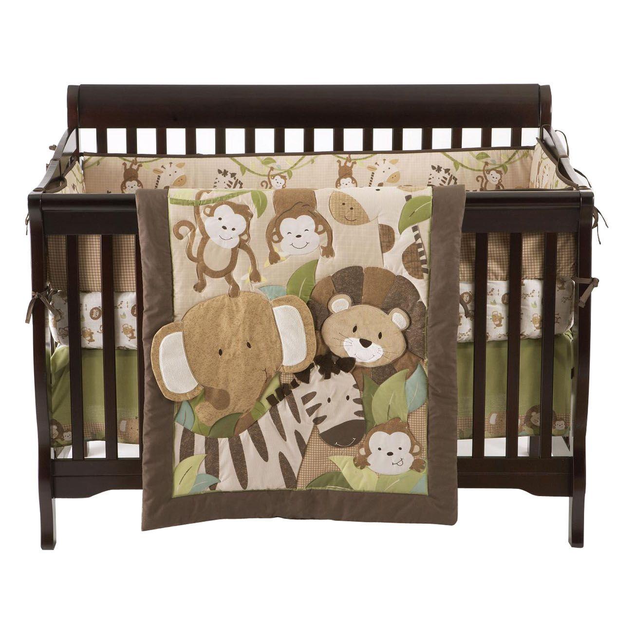 Small Wonders 4 Piece Zoomba Safari Crib Bedding Set