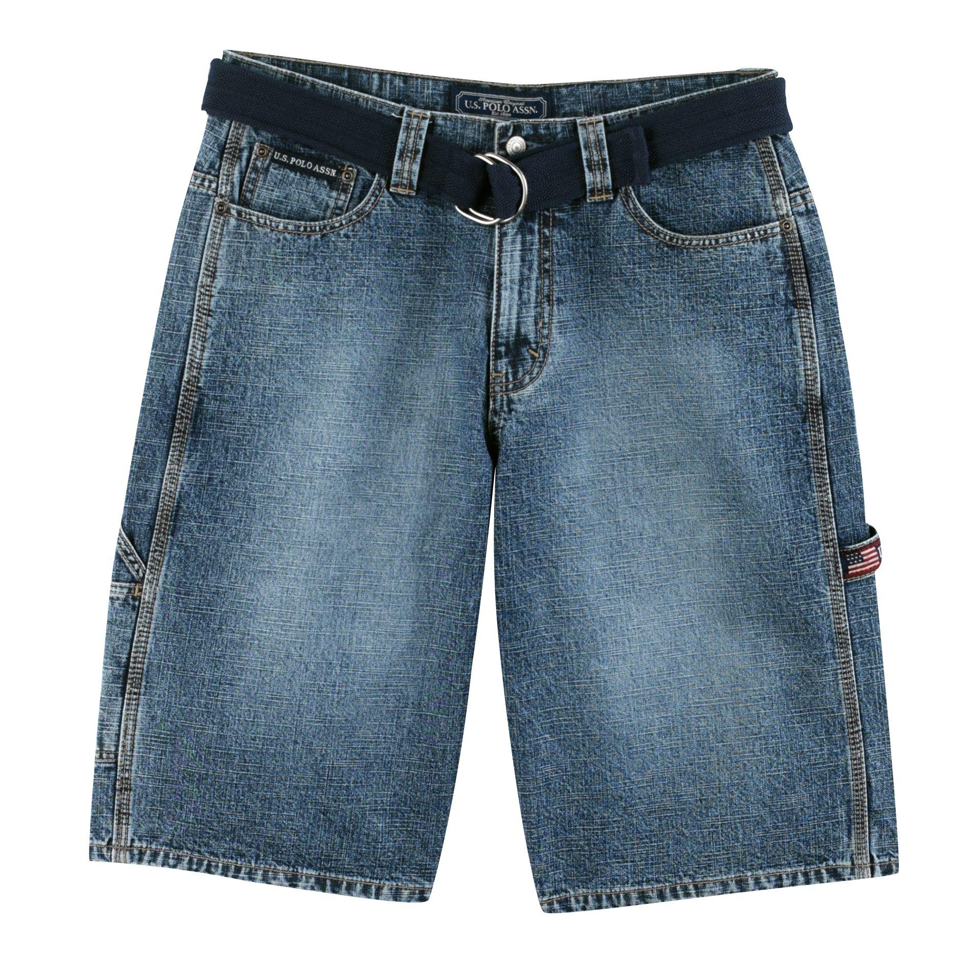 U. Polo Assn. Belted Carpenter Denim Short - Clothing Men' Shorts