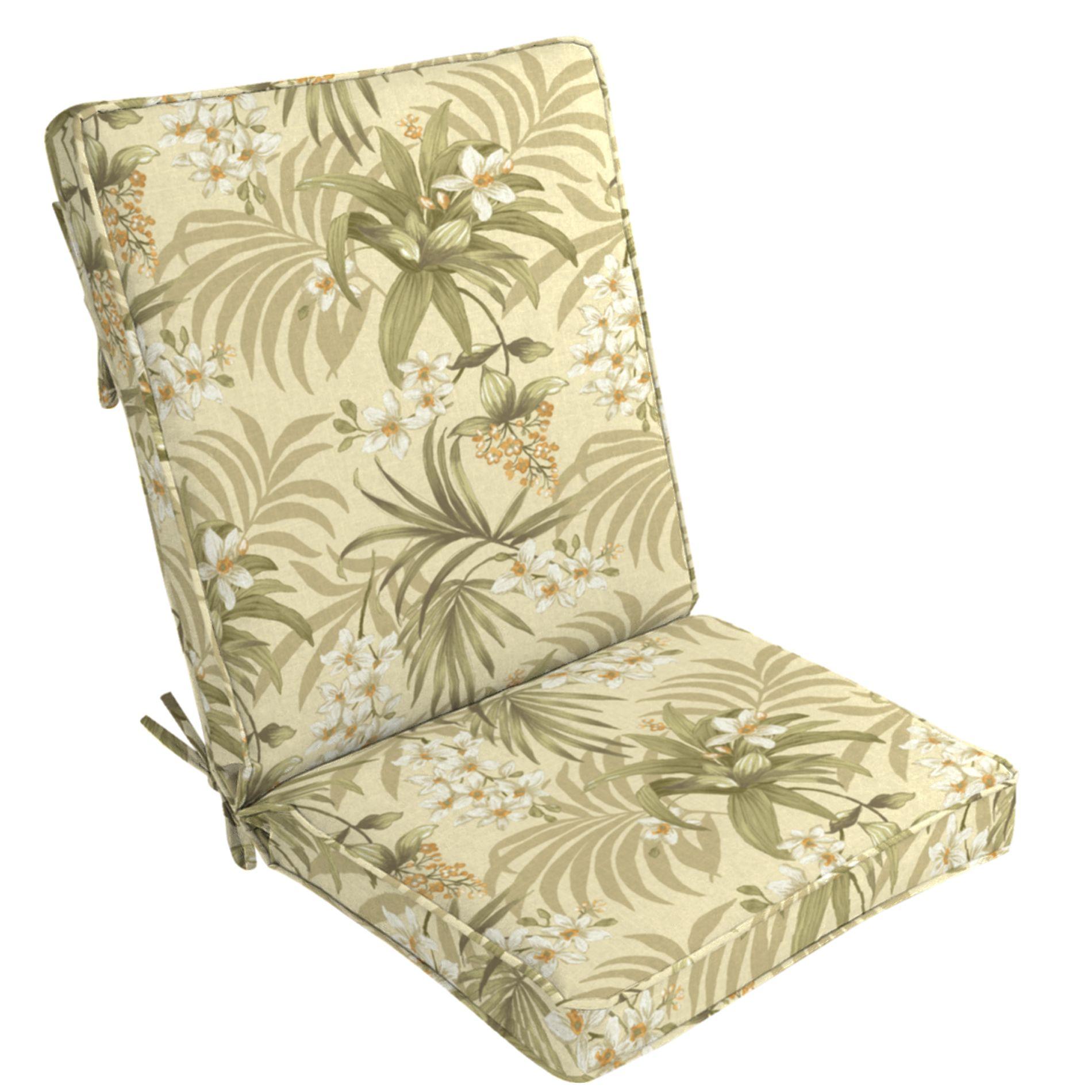 Arden Outdoor Patio High Back Chair Cushion  Doreena Twilight