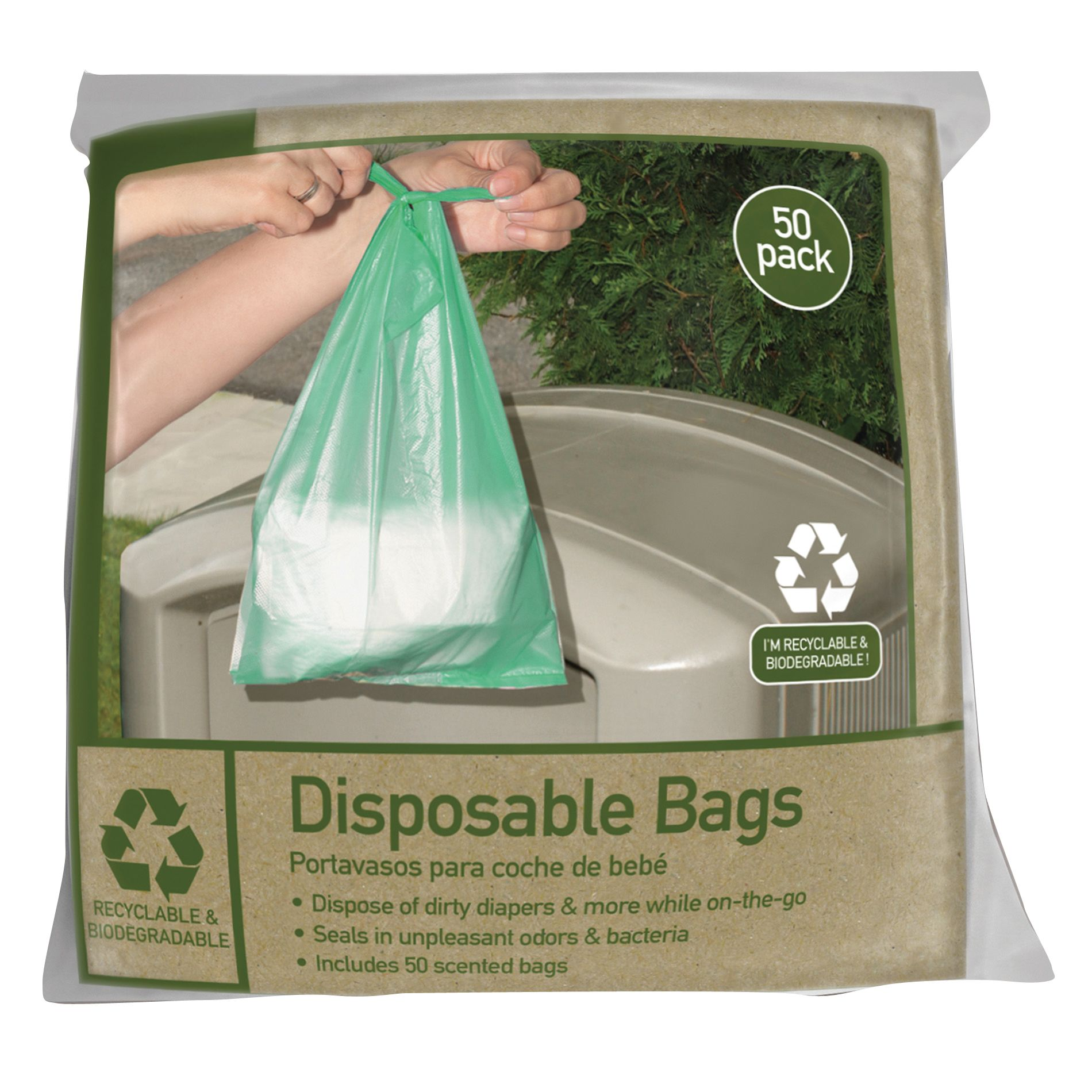 Jeep 50 Count Disposable Diaper Bags
