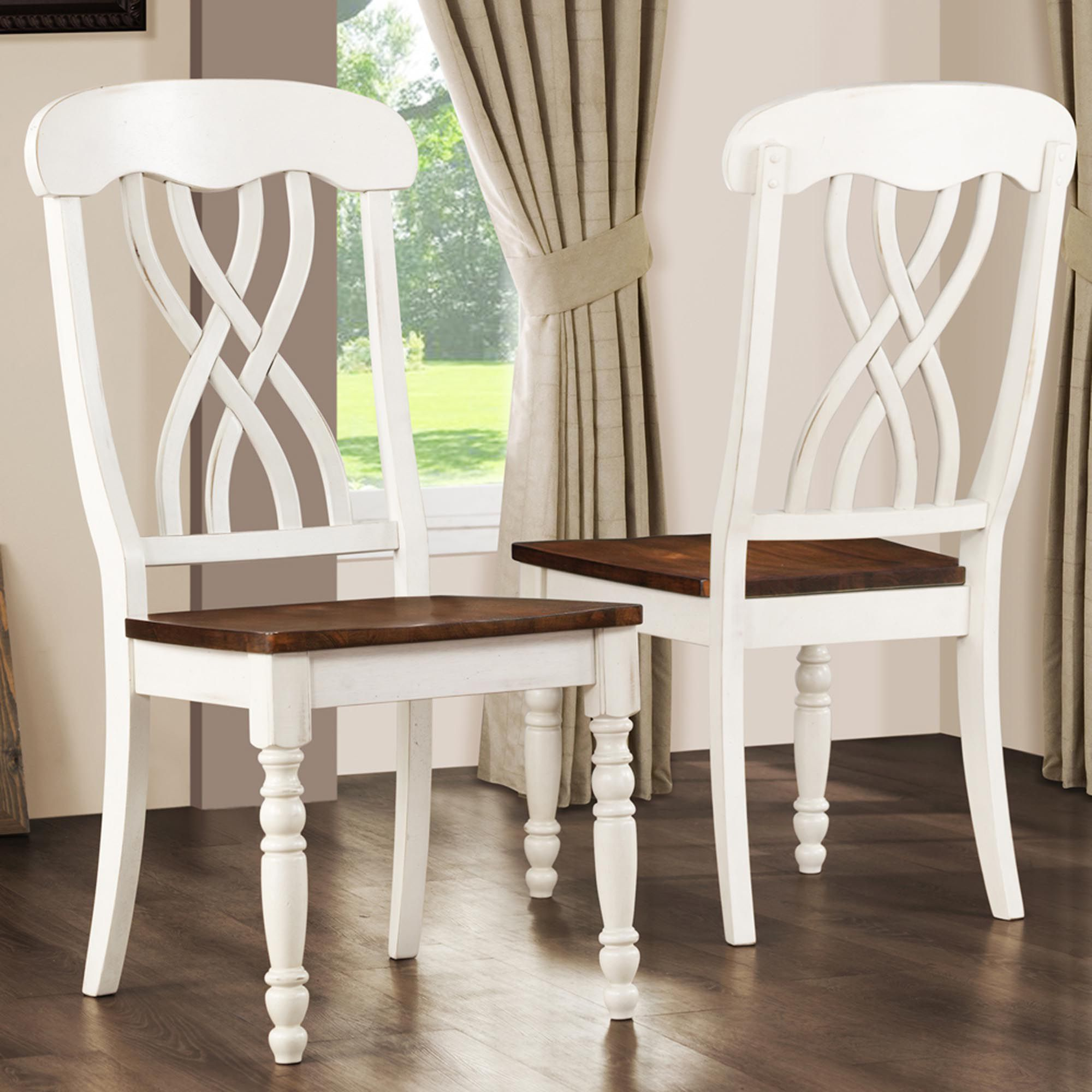 antique white dining chairs toddler table and wooden oxford creek side in set of 2 multi