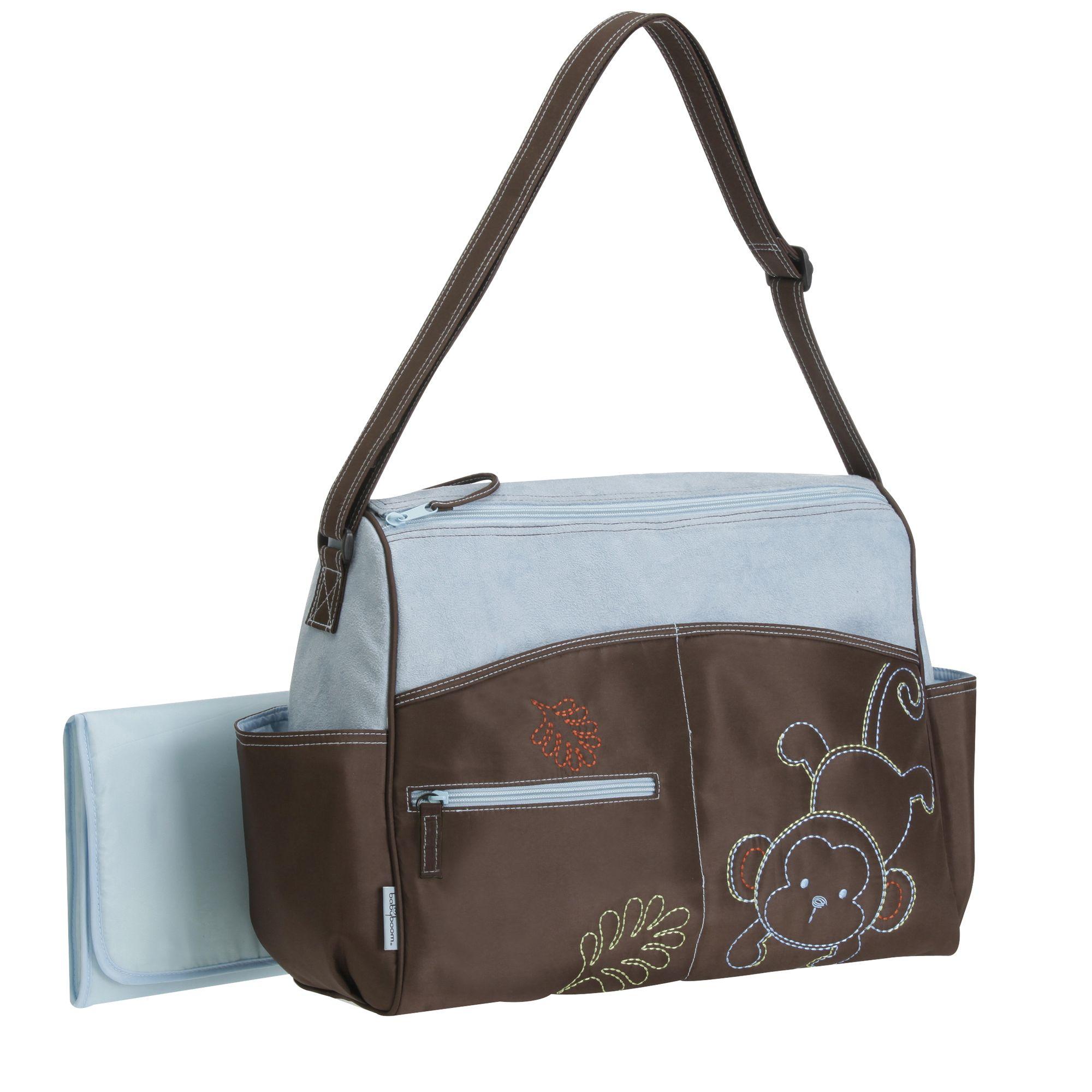 Baby Boom Duffle Diaper Bag - Monkey Embroidery