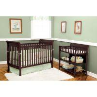 Delta Children Glenwood 3-in-1 Convertible Sleigh Crib ...