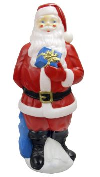 "General Foam Plastics 34"" Outdoor Light-Up Blow Mold Santa ..."