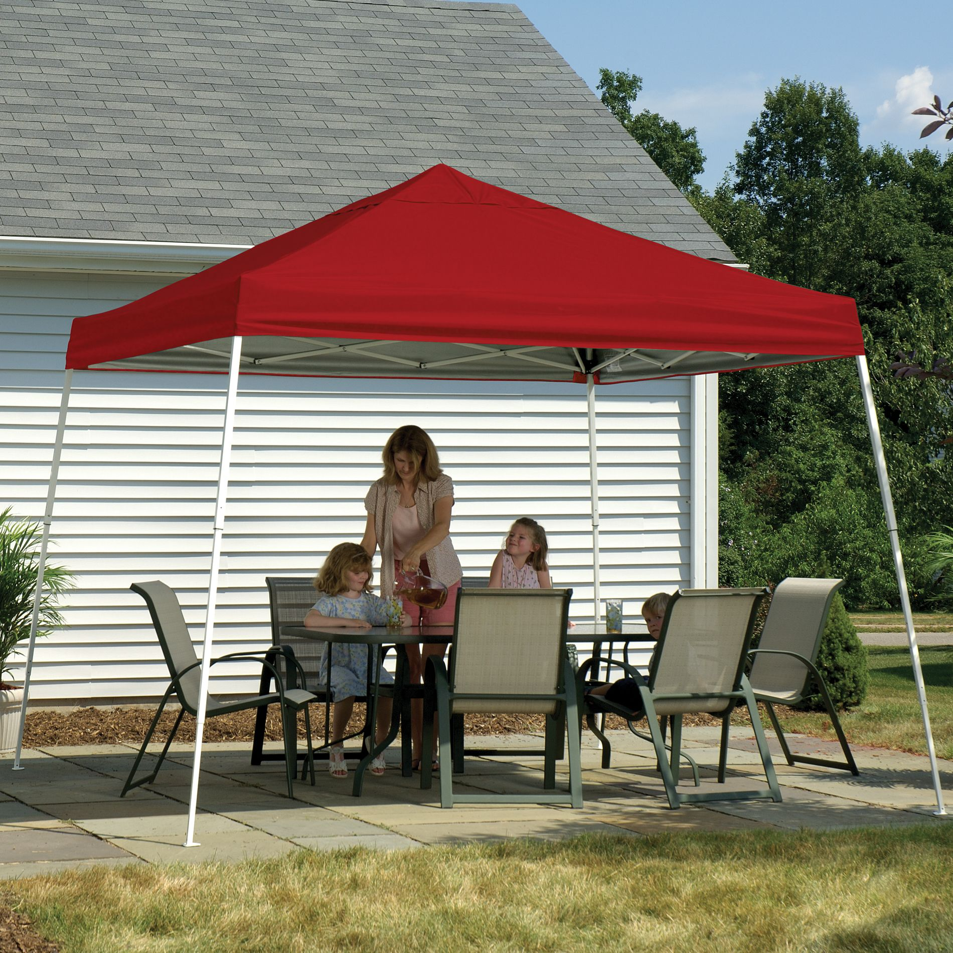 Shelterlogic Pop- 12' X Canopy With Red Cover