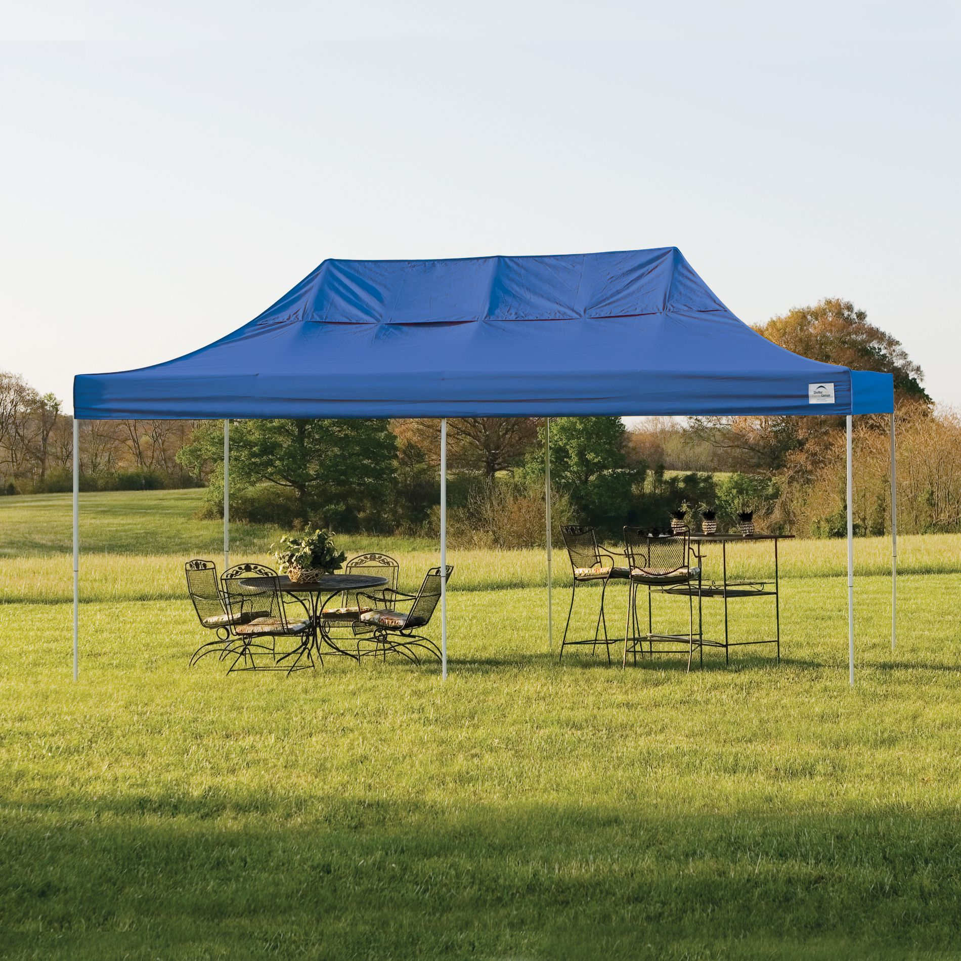 Shelterlogic Pop- 10' X 20' Truss Pro Canopy Tent With Blue Cover