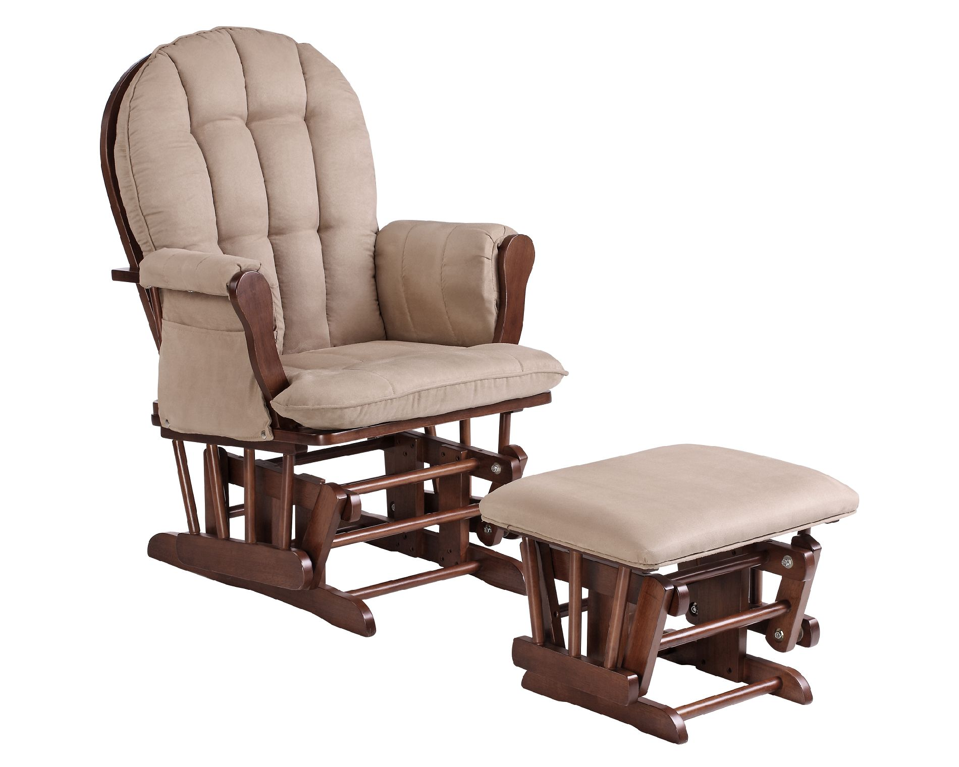 glider chair for nursery armless and a half rocker ottoman comfort style from sears