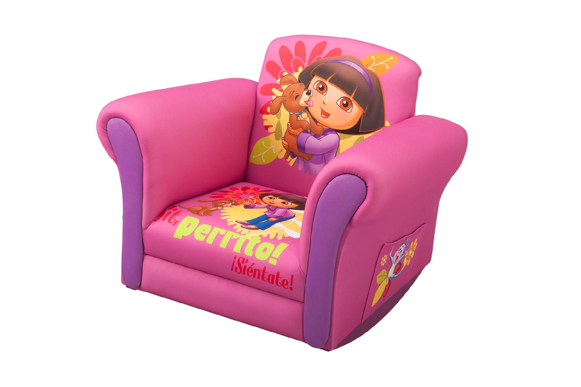 Kids Upholstered Rocking Chair Dora The Explorer Upholstered Rocking Chair