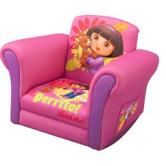 Kids Upholstered Rocking Chair Material To Cover Dining Room Chairs Dora The Explorer