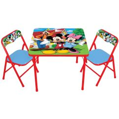 Minnie Table And Chairs Small Pub Delta Mouse Child 39s Chair Set Kmart