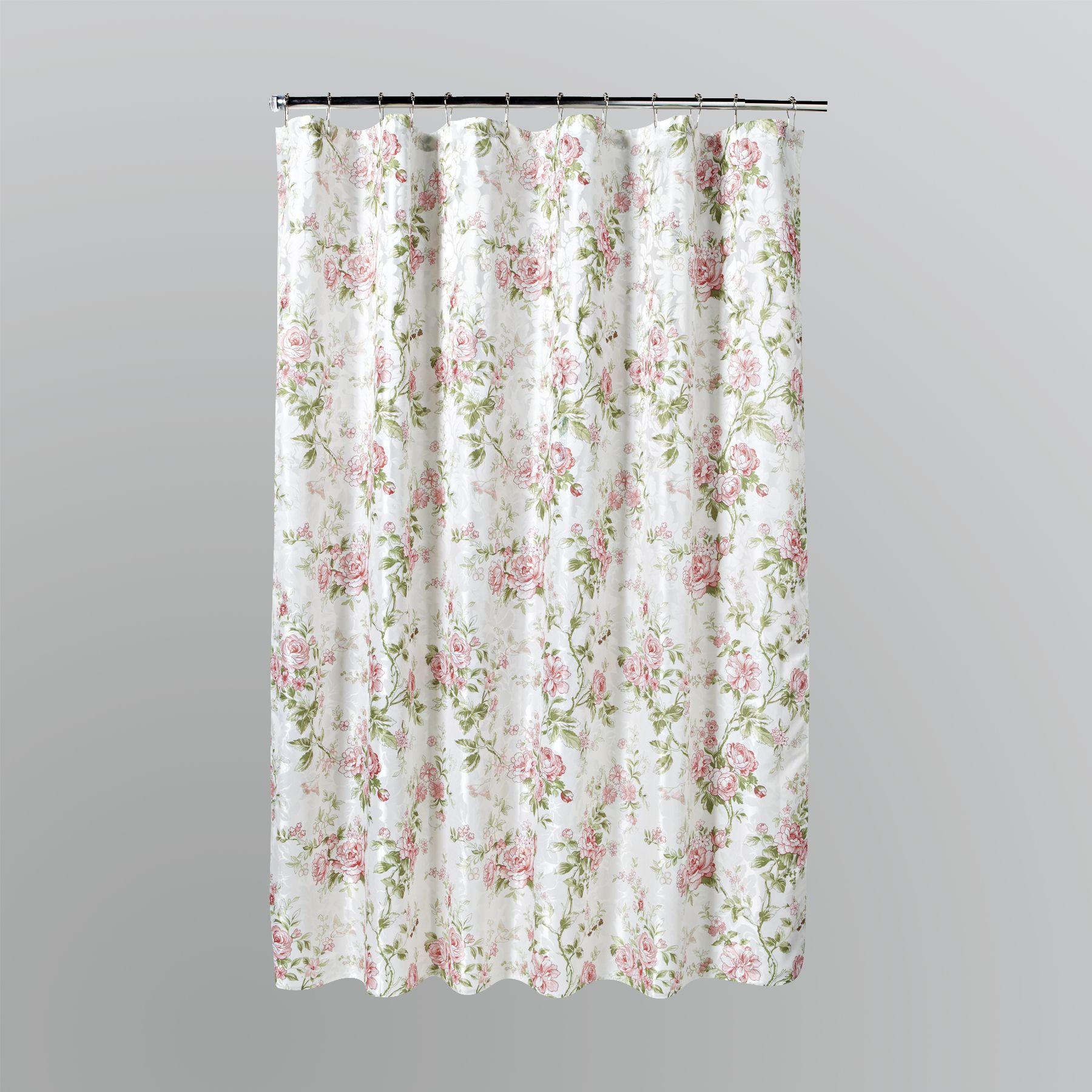 Floral Shower Curtain  Kmartcom  Floral Shower Drape