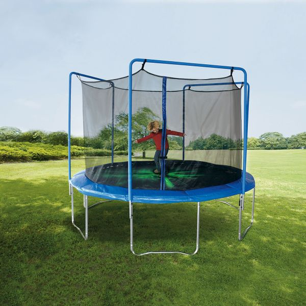Sportspower 12 Ft Trampoline With 3-arch Enclosure And Flash Light Zone Online