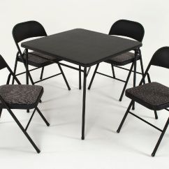 Cosco Card Table And Chairs Target Patio Black Home Office Products 5 Piece Set With Vinyl
