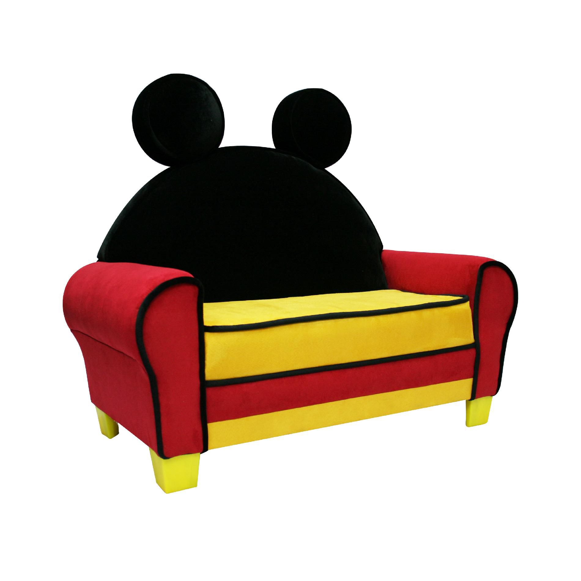 mickey mouse sofa s shaped called delta children upholstered icon lounge