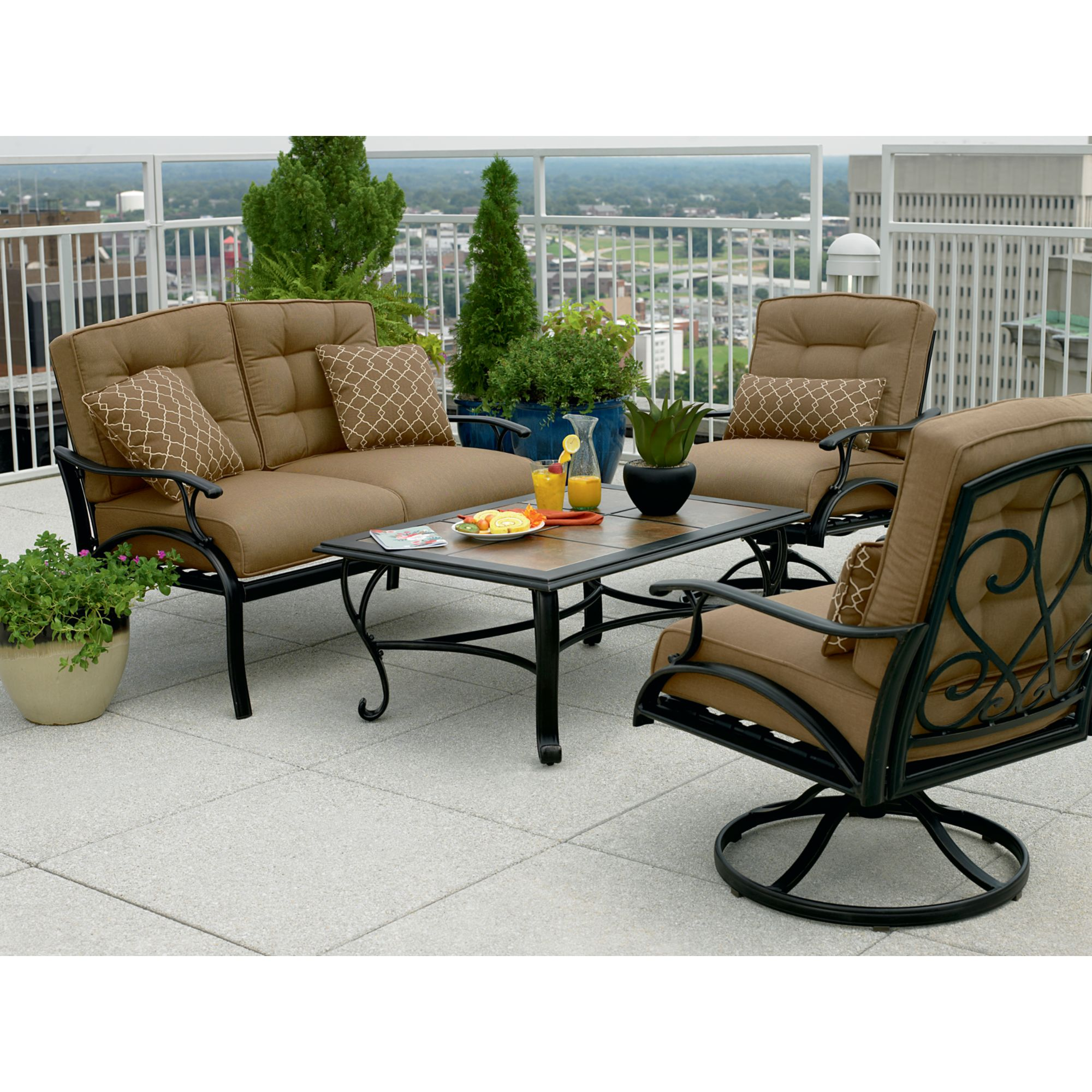 Caitlyn Ceramic Patio Seating Set Great Outdoor Ideas