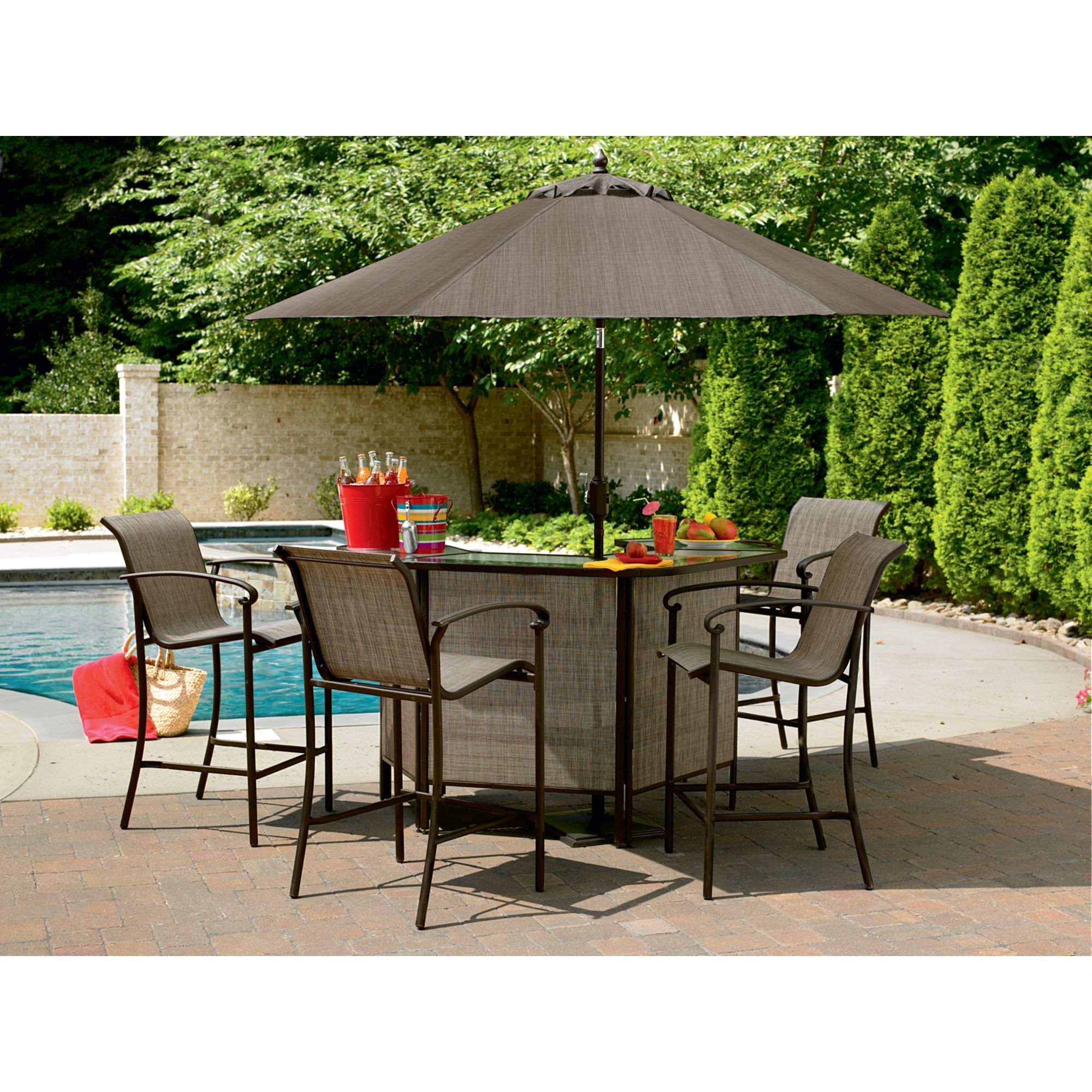 garden oasis patio chairs little tikes table and pink 5 piece bar set: have fun hosting with sears