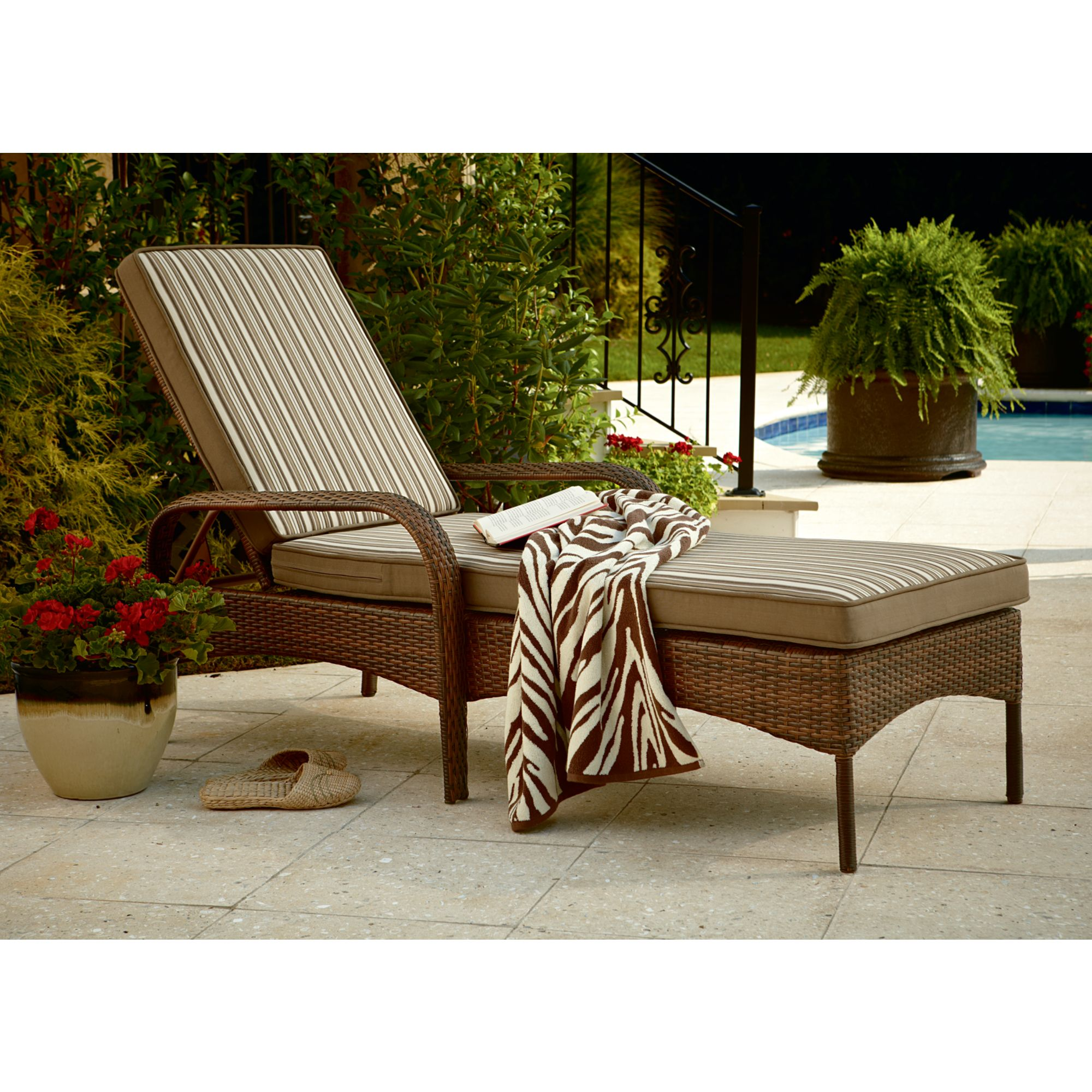 Lounge Chair Patio Ty Pennington Style Mayfield Chaise Lounge