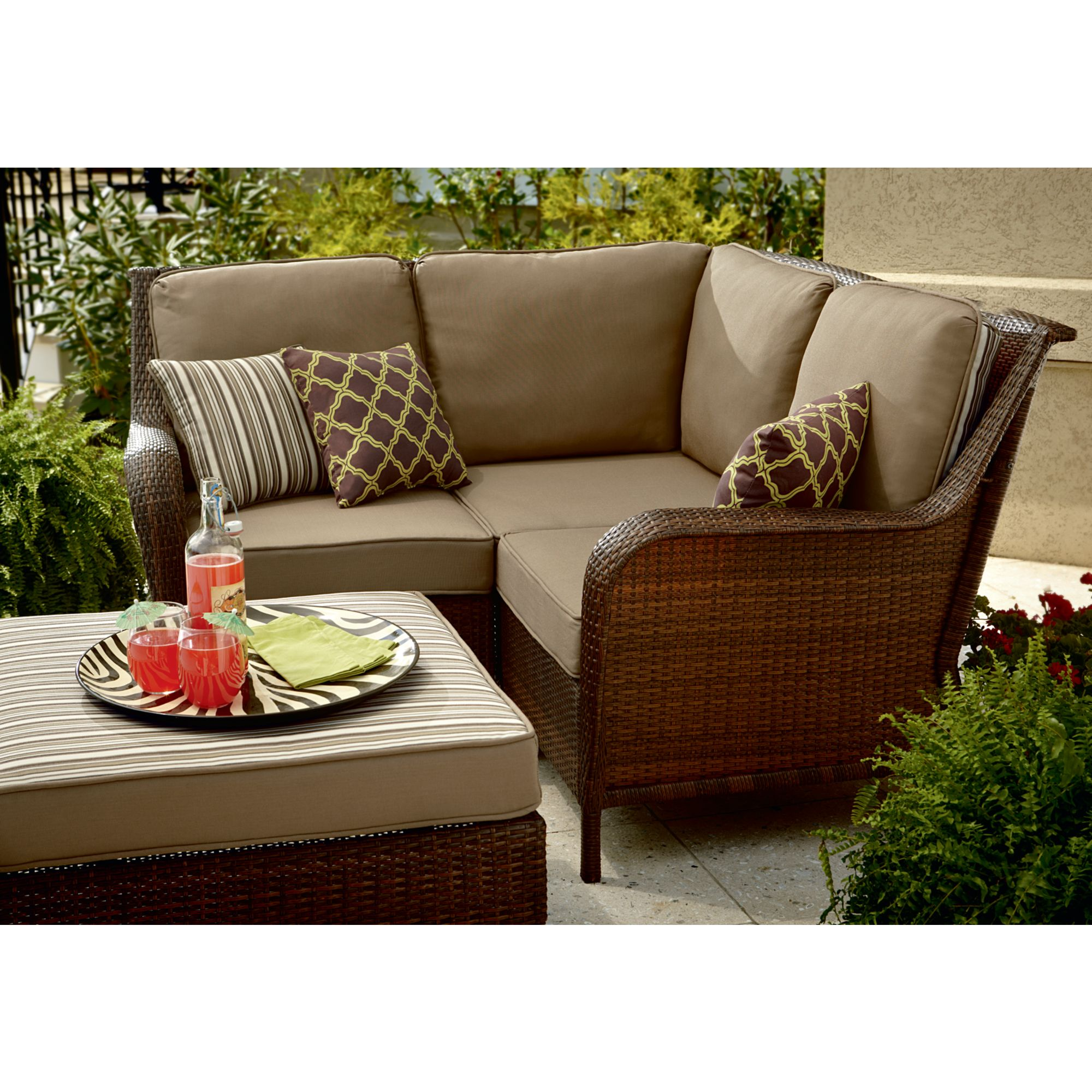 sears outdoor sectional sofa lily mayfield 4 piece wicker patio set update your