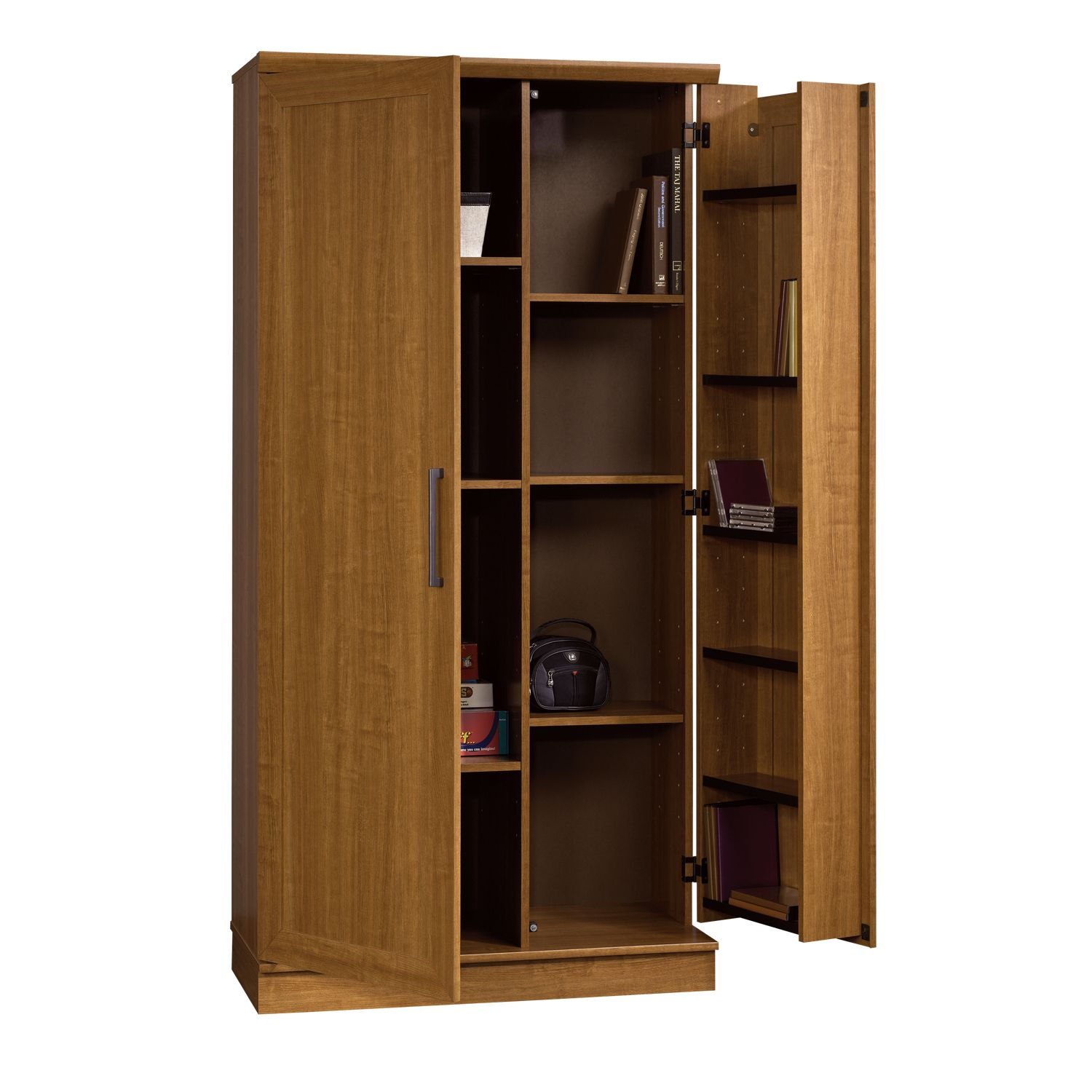 House furniture  Looking for Sauder Homeplus Storage Cabinet Swing Out Doors Sienna Oak  The