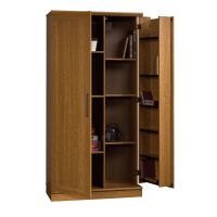 Sauder Home Plus Storage Cabinet Swing Out Door Brown ...