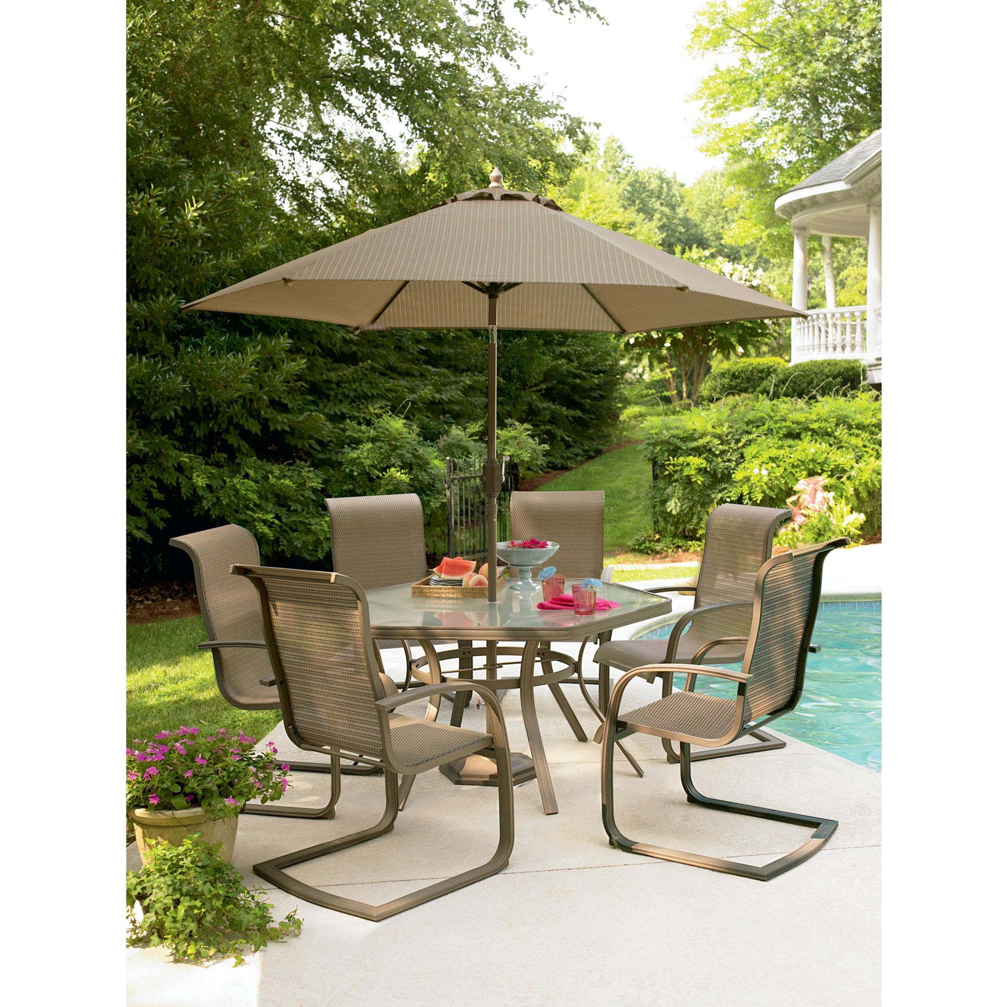 garden oasis patio chairs gaming desk and chair grandview 7 pc dining set shop your way