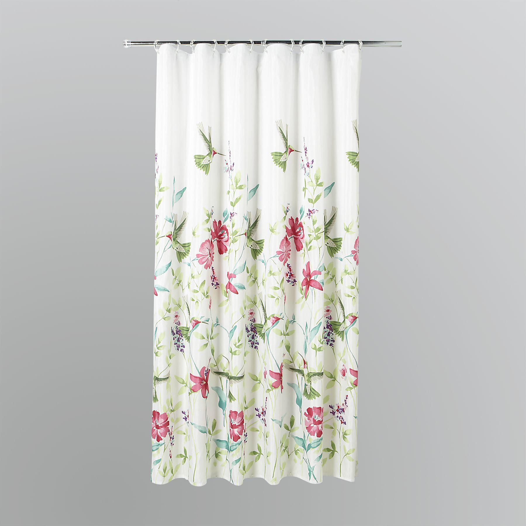 Essential Home Hummingbirds Fabric Shower Curtain