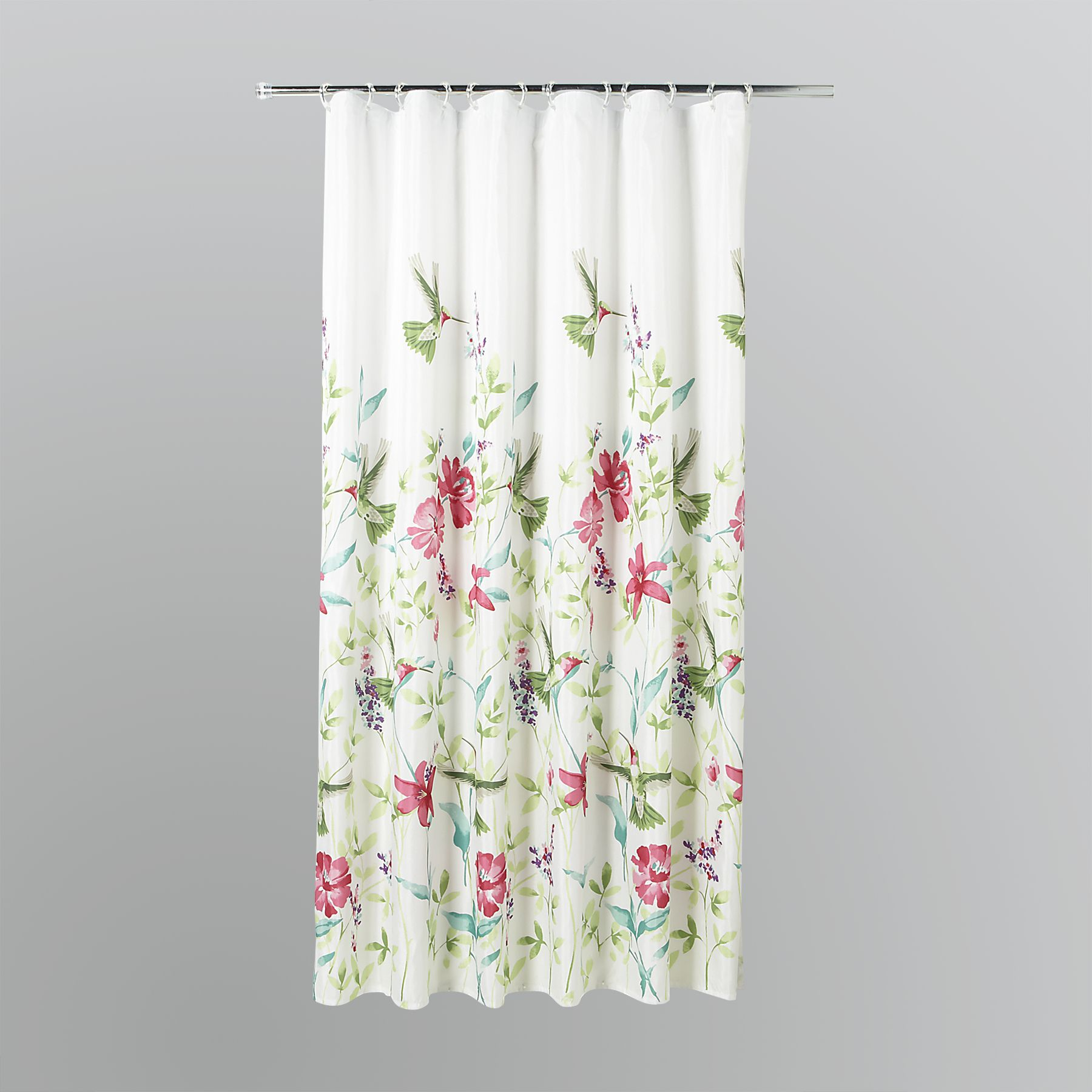 Essential Home Hummingbirds Fabric Shower Curtain  Home