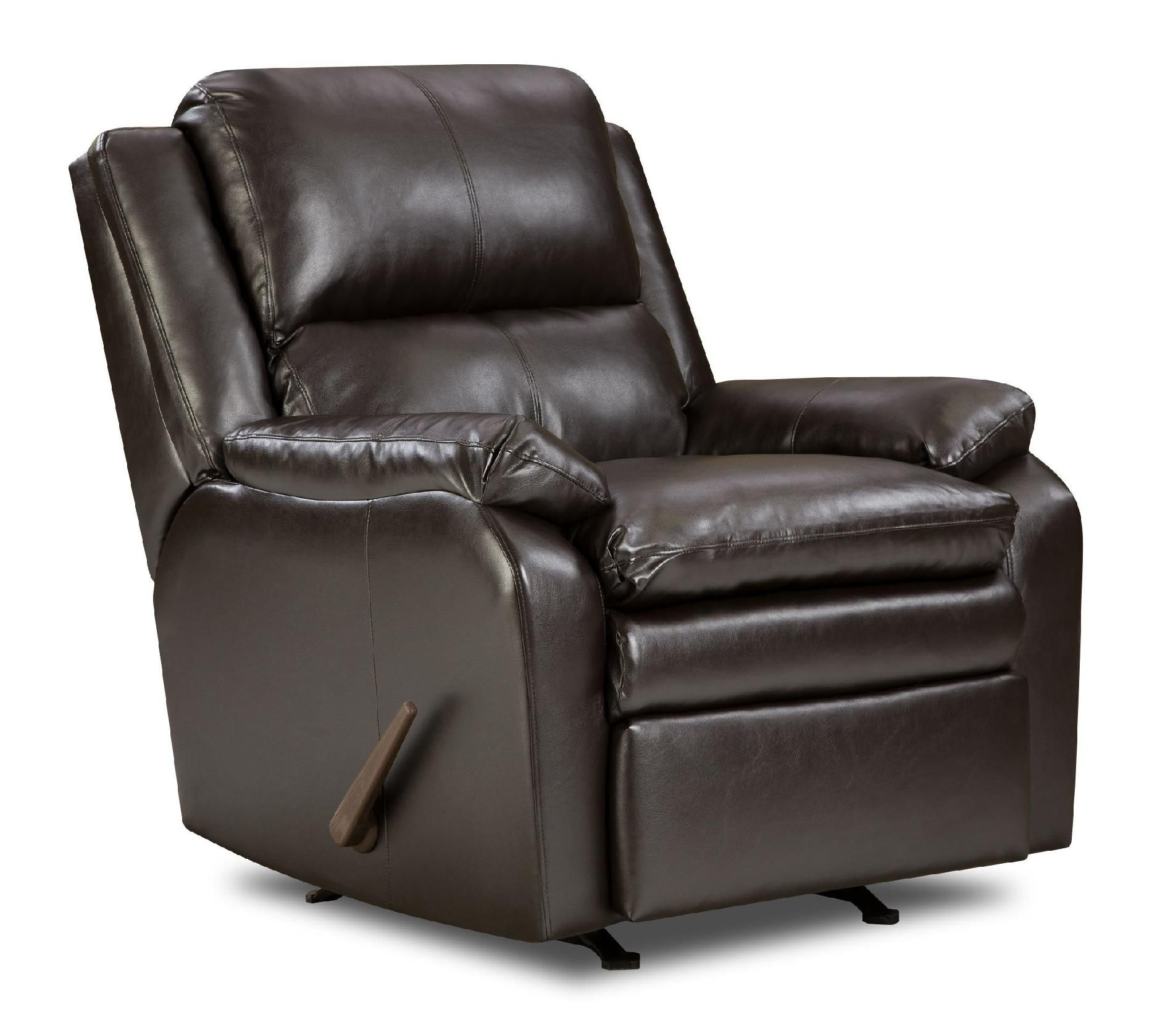 sears recliner chairs ghost bar chair simmons upholstery baron leather rocker shop