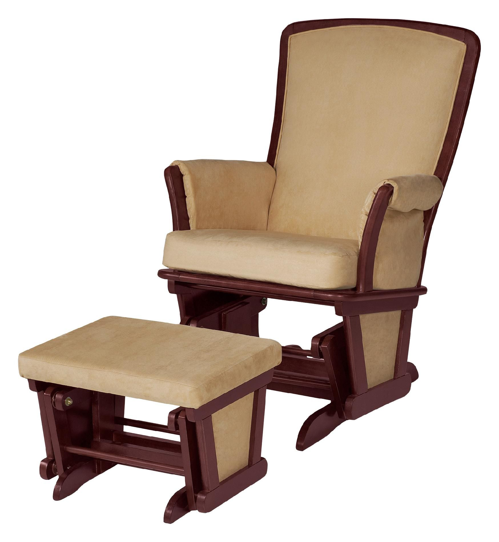 childcare glider rocking chair ottoman walnut accent chairs under 100 dollars delta children upholstered and chocolate