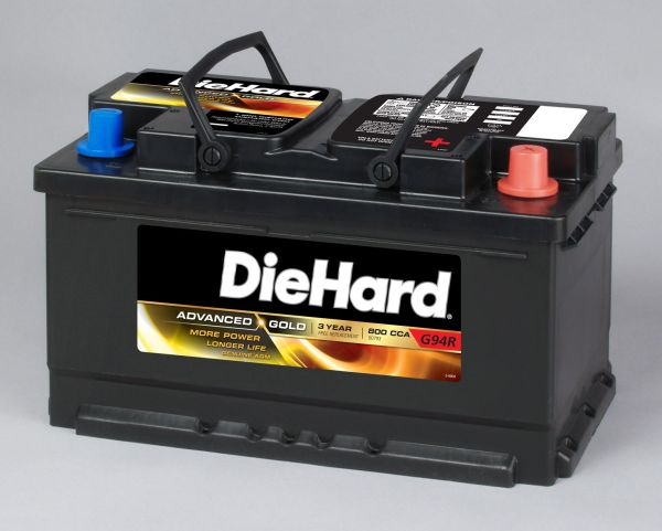 Diehard Gold Agm Automotive Battery - Group Size Ep-94r With Exchange