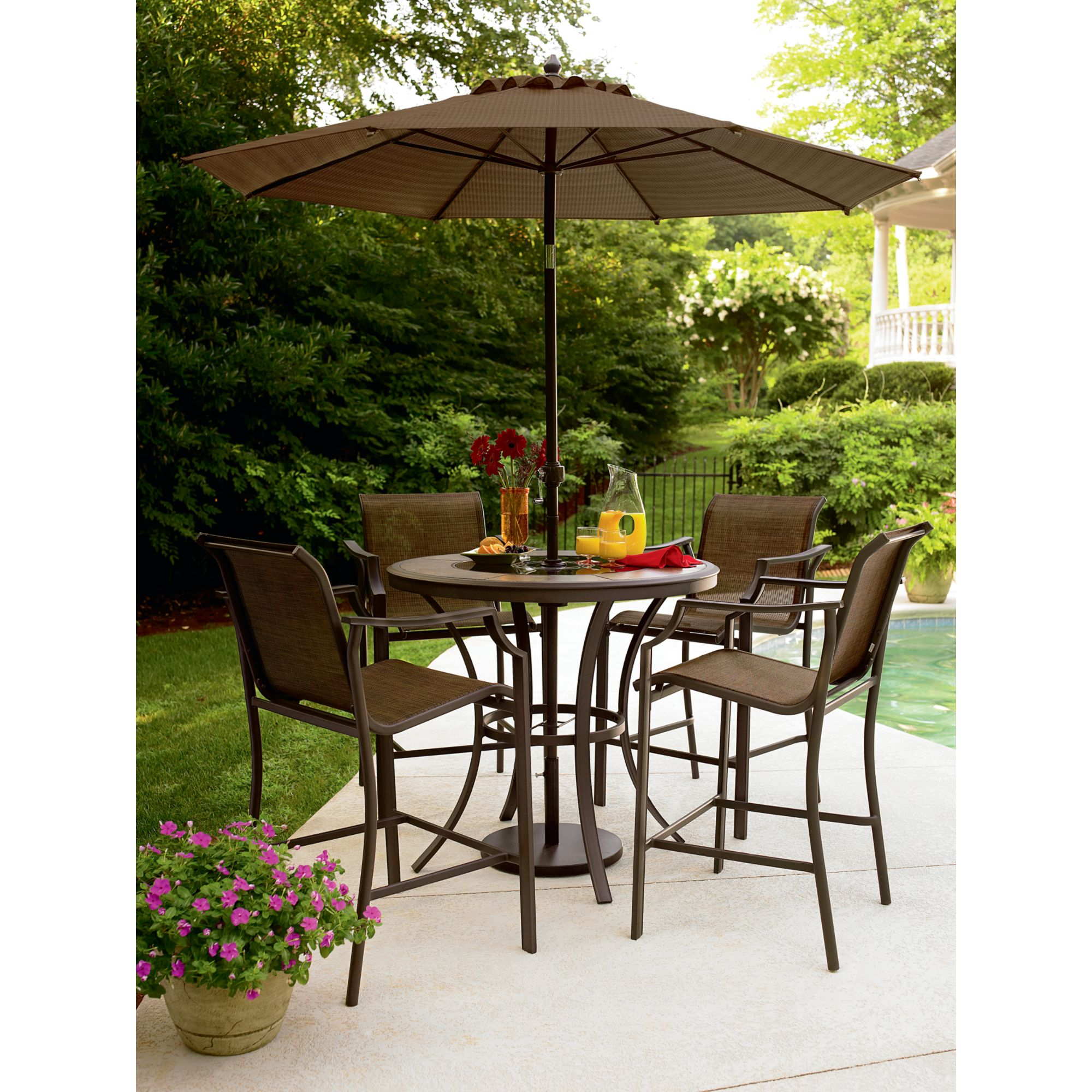 high top patio table and chairs arthrex beach chair weight limit garden oasis cooper lighted dining