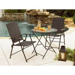 Garden Oasis Patio Chairs Room Essentials Folding Chair Wicker Dark Brown Outdoor