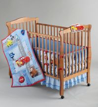 Disney Boys Cars Little Racer Five-Piece Baby Crib Bedding ...