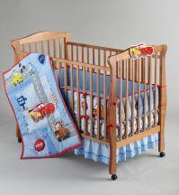 Disney Boys Cars Little Racer Five-Piece Baby Crib Bedding Set