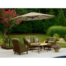 Garden Oasis Offset Umbrella 10ft - Outdoor Living