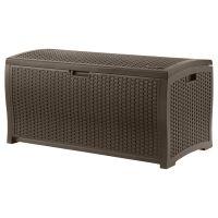 Suncast 99 Gallon Resin Wicker Deck Box